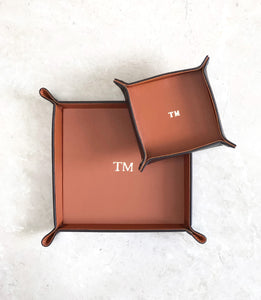 Button Trays Tan - Set of 2