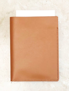 Leather Passport Wallet - Smooth Tan