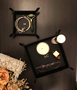 Button Trays Black - Set of 2