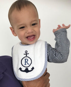 Personalised Bibs, Baby Bibs, Single Initial Bibs
