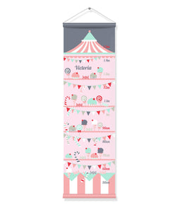 Canvas Growth Chart - Party