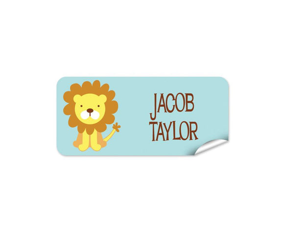 Cute Lion 48pk Labels - Rectangle