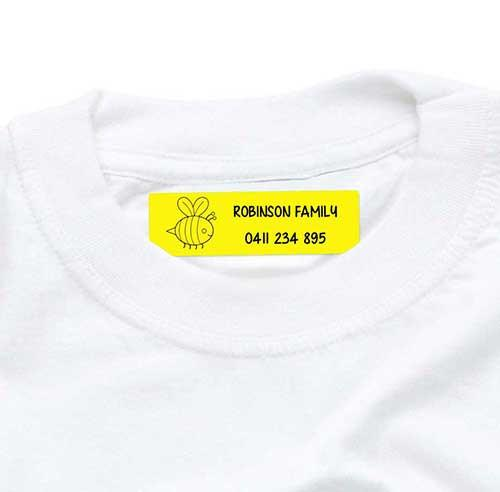 Iron On Labels 44pk - Yellow
