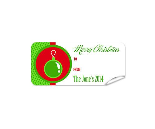 Bauble 27pk Labels Christmas