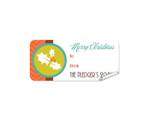Holly 27pk Labels Christmas