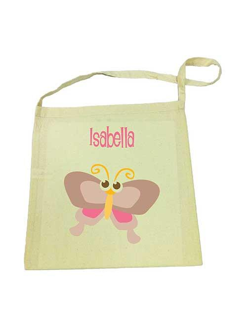 Library Bag - Brown Butterfly