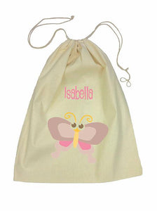 Drawstring Bag - Brown Butterfly