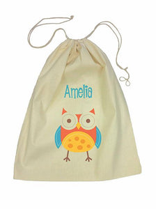 Drawstring Bag - Red Owl