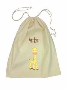 Drawstring Bag - Giraffe