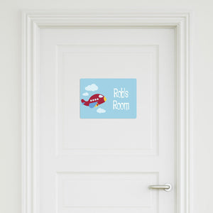 Plane Medium Door Signs