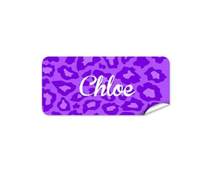 Purple Camo 48pk Labels - Rectangle