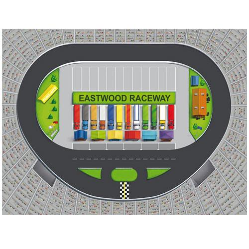 Large Raceway Track Play Blanket