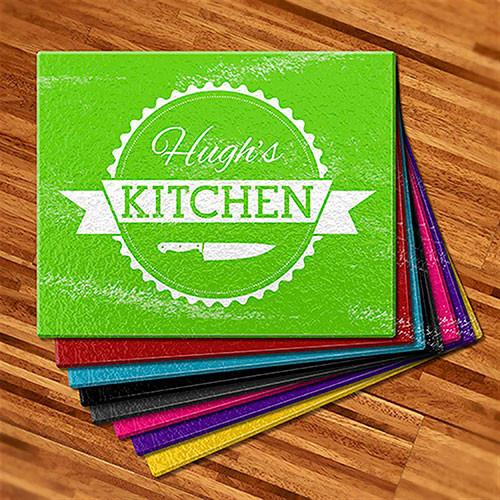 Kitchen Knife Glass Cutting Board