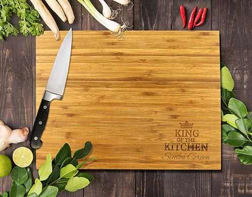 King Of The Kitchen Bamboo Cutting Board 12x16