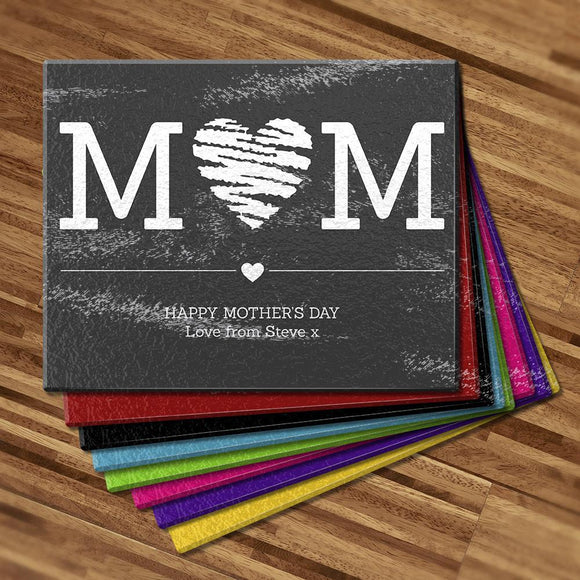 Mum Heart Glass Cutting Board
