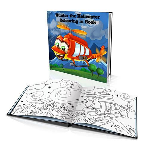 The Helicopter Soft Cover Colouring Book