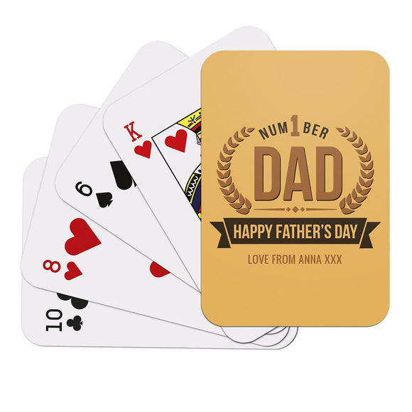 Number 1 Dad Playing Cards