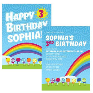 Lollipop Party Invitation