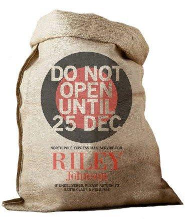 Do Not Open Hessian Santa Sack