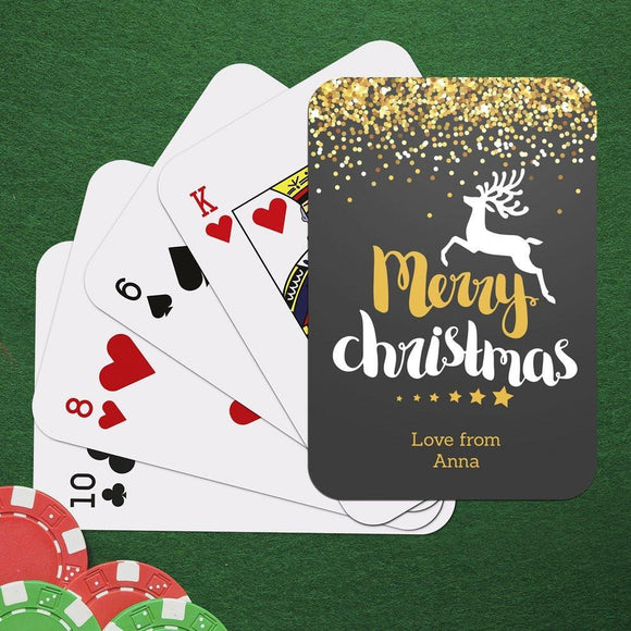 Reindeer Christmas Playing Cards