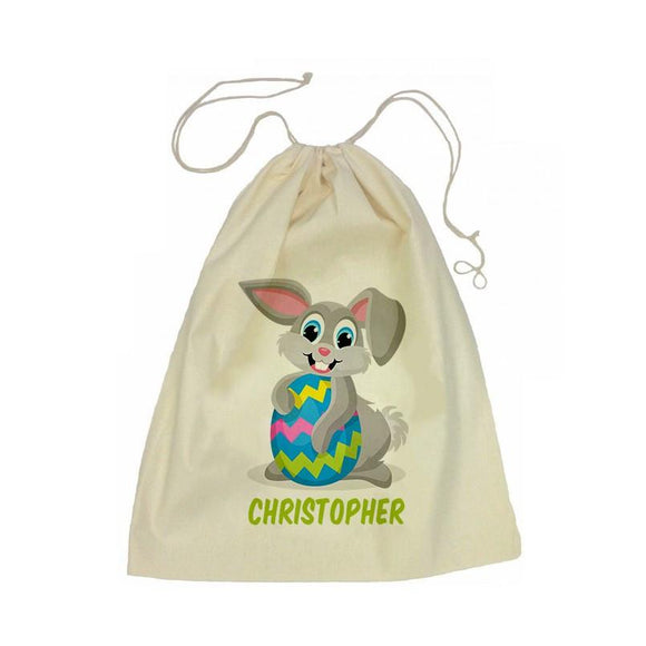 Easter Bunny Drawstring Library Bag