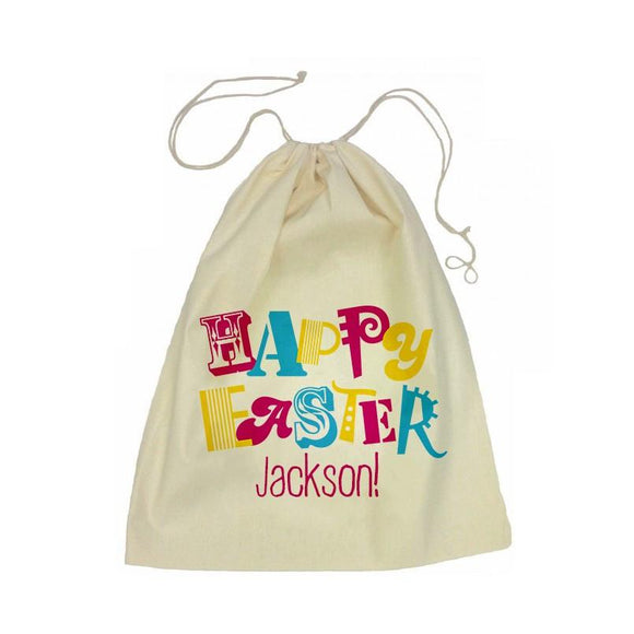Happy Easter Drawstring Library Bag