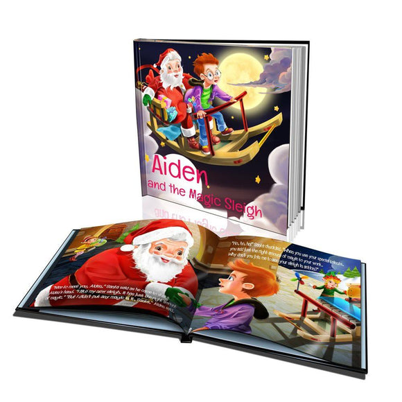 The Magic Sleigh Hard Cover Story Book