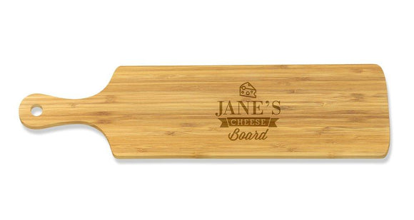 Cheese Long Bamboo Serving Board