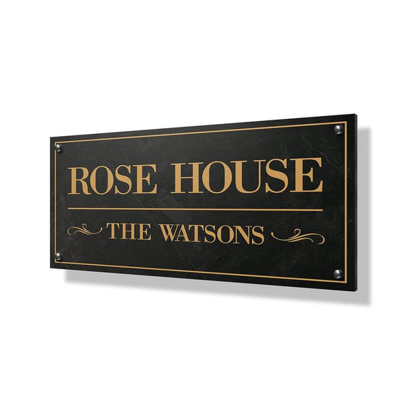 Rose House Business & Property Sign - 24x12