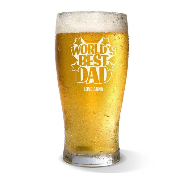 World's Best Dad Standard 425ml Beer Glass
