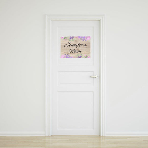 Flower Door Sign - Medium