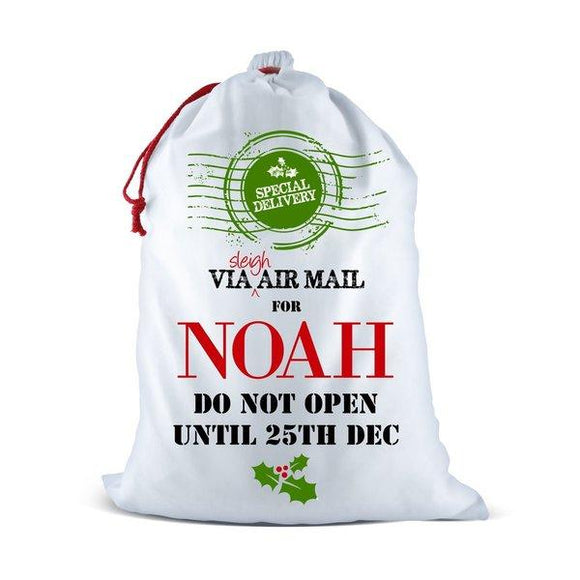 Air Mail White Santa Sack