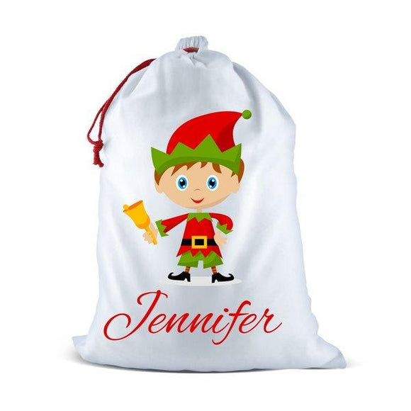 Elf White Santa Sack