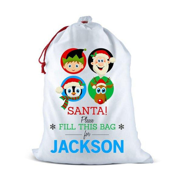 Fill This Bag White Santa Sack