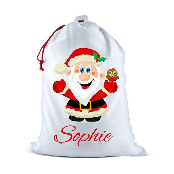 Jolly Santa White Santa Sack