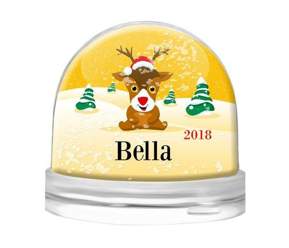 Yellow Snow Globe