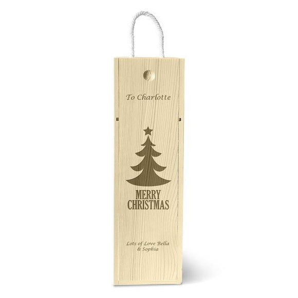 Christmas Tree Single Wine Box