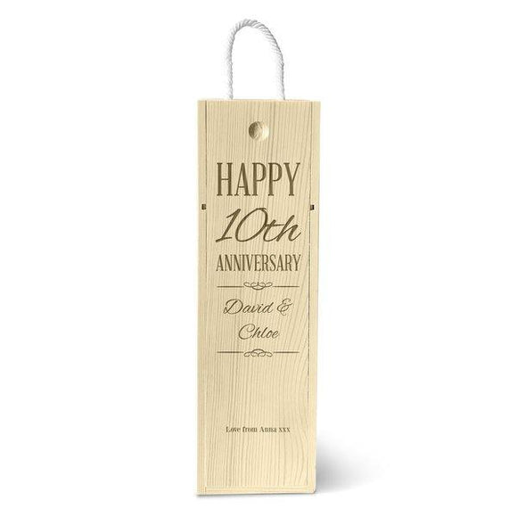 Happy Anniversary Single Wine Box