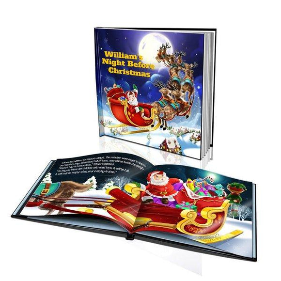 Night Before Christmas Large Hard Cover Story Book