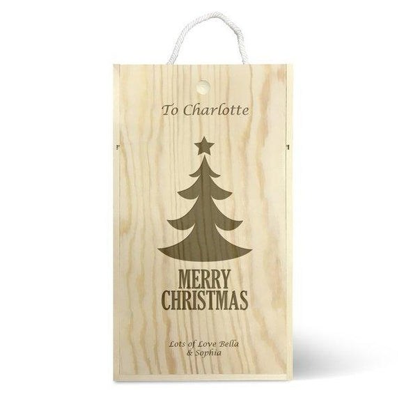 Christmas Tree Double Wine Box