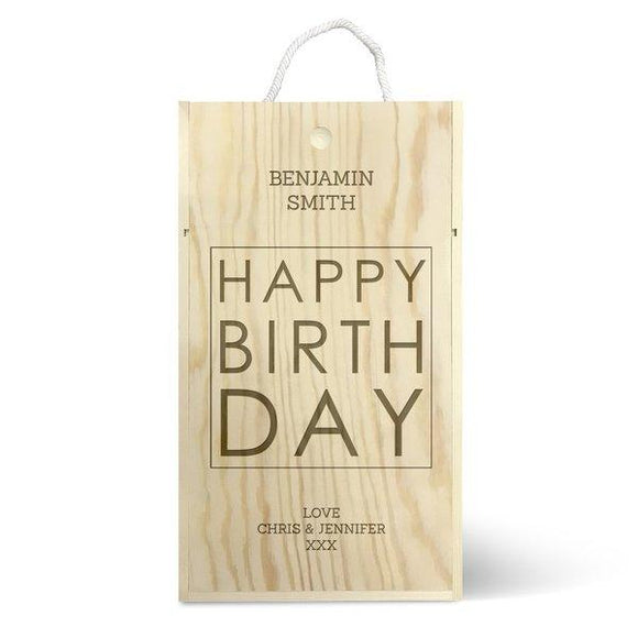 Happy Birthday Double Wine Box