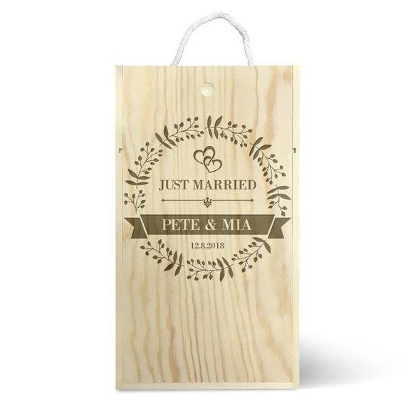 Just Married Double Wine Box