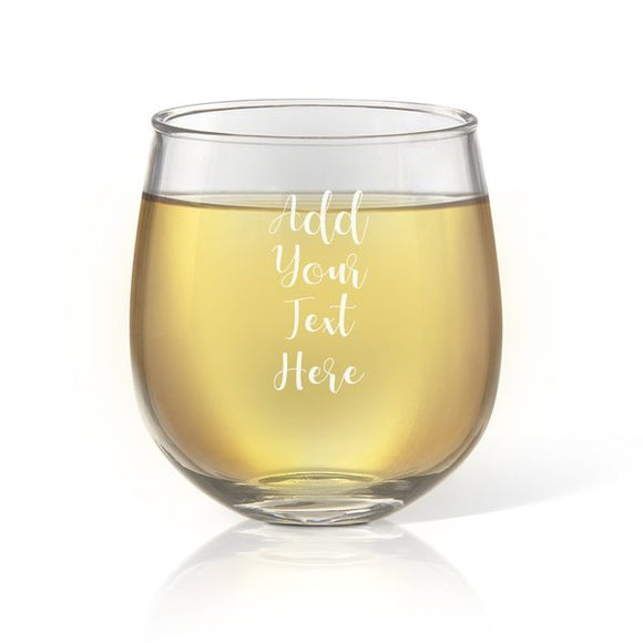 Add Your Own Message Stemless Wine Glass