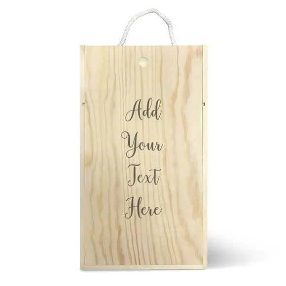Add Your Own Message Wine Box - Double