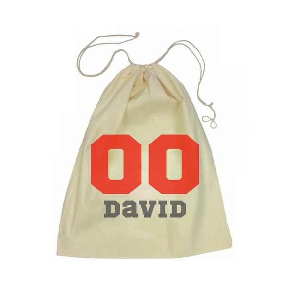Sports Number Drawstring Bag