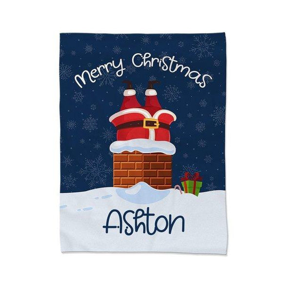Santa Chimney Blanket - Large (Temporary Out of Stock)