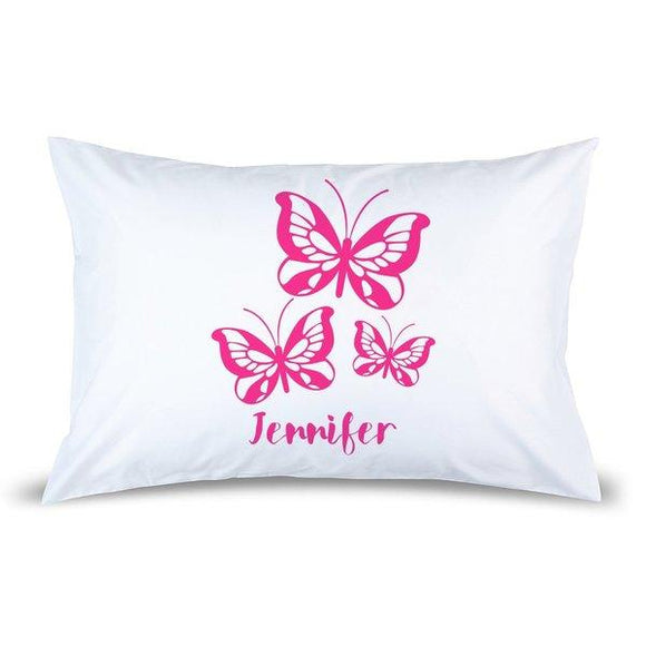Pink Butterflies Pillow Case