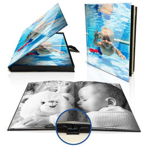 "11 x 8"" Premium Layflat Photo Book (Portrait) in Personalised Presentation Box"