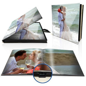 "8 x 8"" Premium Layflat Photo Book in Personalised Presentation Box"
