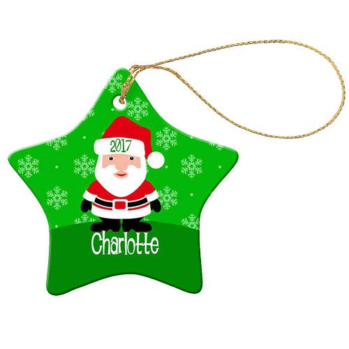 Green Santa Star Decoration